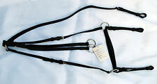 BRAND NEW QUALITY LEATHER BREASTPLATE WITH RUNNING MARTINGALE ATTACHMENT