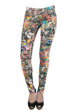 NEW WOMENS SKINNY FIT PRINTED STRETCH LEGGING FULL LENGTH TEEN TROUSER SIZE 8-14