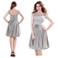 2014 New Noble Cap Sleeve Prom Bridesmaid Dresses Formal Dress Stock US Size2-16