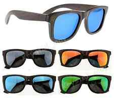 NEW HOT Polarized Brown Bamboo Sunglasses Vintage Wood Wooden Mens Womens Shades