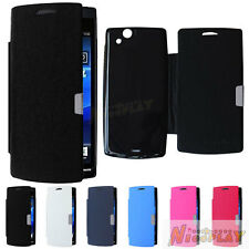 Magnetic Leather Case Flip Cover For Sony Ericsson Xperia Arc S LT18i LT15i X12