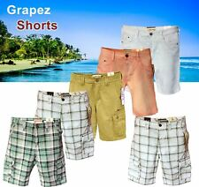 "New Mens Summer Casual Cotton Work Cargo check Comfort SHORTS Trousers 29""-46"""