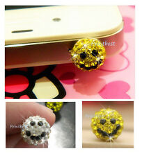 Strass Bling Smile Anti-dust ear phone cap plug iPhone/Samsung/HTC/LG/Sony gb**