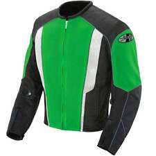 JOE ROCKET PHOENIX 5.0 MESH MOTORCYCLE RIDING JACKET GREEN BLACK WATERPROOF LINE