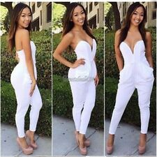 2014 Women's Fashion Casual V-neck Overall Rompers Jumpsuit Long Pants Trousers