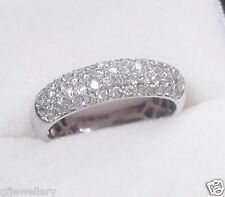 18CT SOLID WHITE GOLD 0.5 TCW G/H SI1 DIAMOND WEDDING, ETERNITY OR DRESS RING