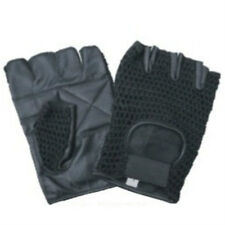 FINGERLESS LEATHER MESH RIDING GLOVES