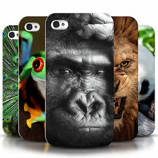 UK, Hard Case for Apple iPhone 4/4s Designer Fashion Bling Cover / Wildlife