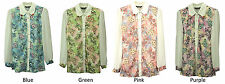 COLLECTION LONDON Womens Ladies Floral Lace Red Gem Collar Shirt 6 - 16