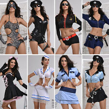 A9 lot of Sexy Female Police Officer Navy Uniform Fancy Cat Dress Outfit S-2XL