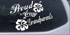 Proud Army Grandparents Hibiscus Car or Truck Window Laptop Decal Sticker