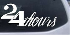 24 Hours Store Window Sign Car or Truck Window Laptop Decal Sticker
