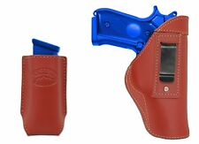 New Barsony Burgundy Leather IWB Holster + Mag Pouch for Taurus Full Size 9mm 40