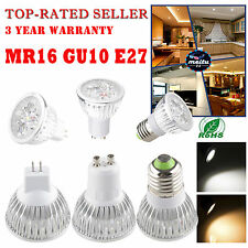 Warm/Cool White High Power GU10/MR16/E27 LED Spot Down Light Lamp Globe Bulb 12W