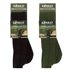 British Army Military Patrol Socks Combat Commando Thermal Black Green 6-11