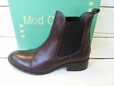 Ladies Mod Comfys Brown Chelsea Boots