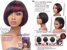PERFECT BOB - OUTRE SUPER NATURAL COMPLETE WITH ONE PACK 100% HUMAN HAIR WEAVE