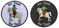 western riding horse patch with your text 10cm embroidered logo (454)