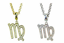 Virgo Symbol of the Zodiac Silver or Gold Plated Pendant - Horoscopes Star Signs