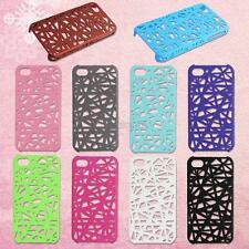plastic bird nest hollow back holder shell skin cover case for iphone 4s 4 4th