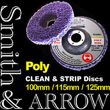 """2 x 115mm 4.5"""" POLY STRIP DISC WHEEL PAINT RUST REMOVAL CLEAN ANGLE GRINDER DISK"""