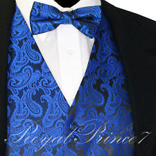 Royal XS to 6XL Paisley Tuxedo Suit Dress Vest Waistcoat & Bow tie Wedding Prom