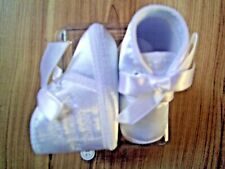 Baby Boy Cream White Occasion Satin Fabric Christening Wedding Special Day Shoes