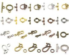 Toggle Clasps, Hook & Eye Clasps - Many Styles & Colors - Tibetan Silver Alloy