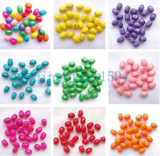 Free 200 / 600 charm wood loose spacer beads Oval Seed Pearl jewelry finding WM1