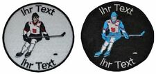ice hockey hockey patch with your text 10cm embroidered logo (422)