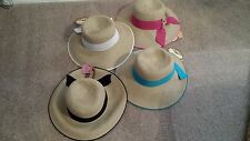 SCALA PACKABLE SUN HAT W/ MATCHING RIBBON AND BRIM ONE SIZE