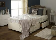 2ft6 Small SINGLE DIVAN BED, with DRAWERS and Headboard with Luxury MATTRESS