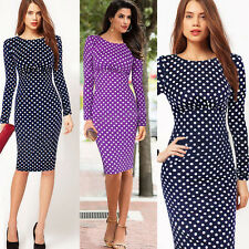 New Vintage Celeb Ladies Bodycon Pencil Cocktail Evening Party Dress Size 6 - 14