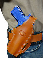 New Barsony Tan Leather Pancake Gun Holster for Ruger Star Full Size 9mm 40 45