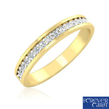 0.21Ct Certified Natural & Real Diamond Band Ring 18kt Hallmarked Gold Band Ring