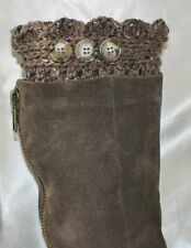 Handmade Crochet Barley Boot Cuffs Boot Topper Leg Warmers S,M&L
