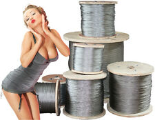 Prof Steel Cable, Galva./Stainl. Steel 5,10,20,25,50,100 m 1,2,3,4,5,6,10,11 mm