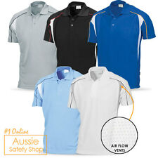 MEN WOMENS ADULT COOL BREATHEABLE MESH VENT POLO OFFICE WORK LEISURE GYM SHIRT