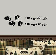 Deer and Bear Tracks  Border 2 set's of Deer, 1 Set of Bear Tracks, ~ Wall Decal