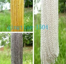 Free hot 30PCS Open Link thin cable Bulk chain / necklace Jewelry finding 48cm