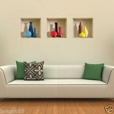 NEW SET 3 ART WALL STICKER 3D LIVING ROOM REMOVABLE HOME DECOR DECALS VINYL