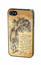 Disney Alice in Wonderland Cheshire Cat Vintage Quote Case Cover iPhone Samsung