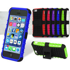Shock Proof Heavy Duty Tough Case Cover for iPhone with Stand + Screen Shield