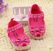 New ZARA BABY Soft Sole Baby Girl Peep Toe Espadrille Crib Shoes. Age 0-18 Mths