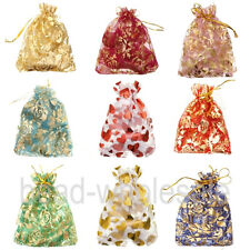 10/100Pcs Gauze Organza Styles Charm Gift Bags Fit For  Wedding Or Gift Bags
