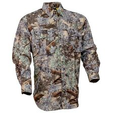 Kings Camo Mens Desert Shadow Pro Safari Long Sleeve Hunting Shirt  M L XL 2XL
