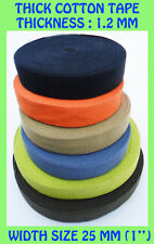 25mm Cotton Webbing Belt strong color Strap Bag Making Thick Tape Strapping Makn