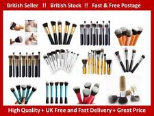 10 Professional Kabuki Make up Brushes Brush Set Blusher Blending Foundation UK