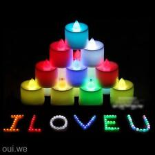 Colorful 12Pcs LED Electronic TeaLight Romance Atmosphere Battery Powered Candle