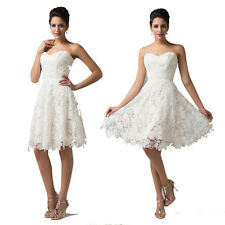 Romantic Lace Formal Party Evening Prom Bridesmaid Wedding Short Dress Promotion